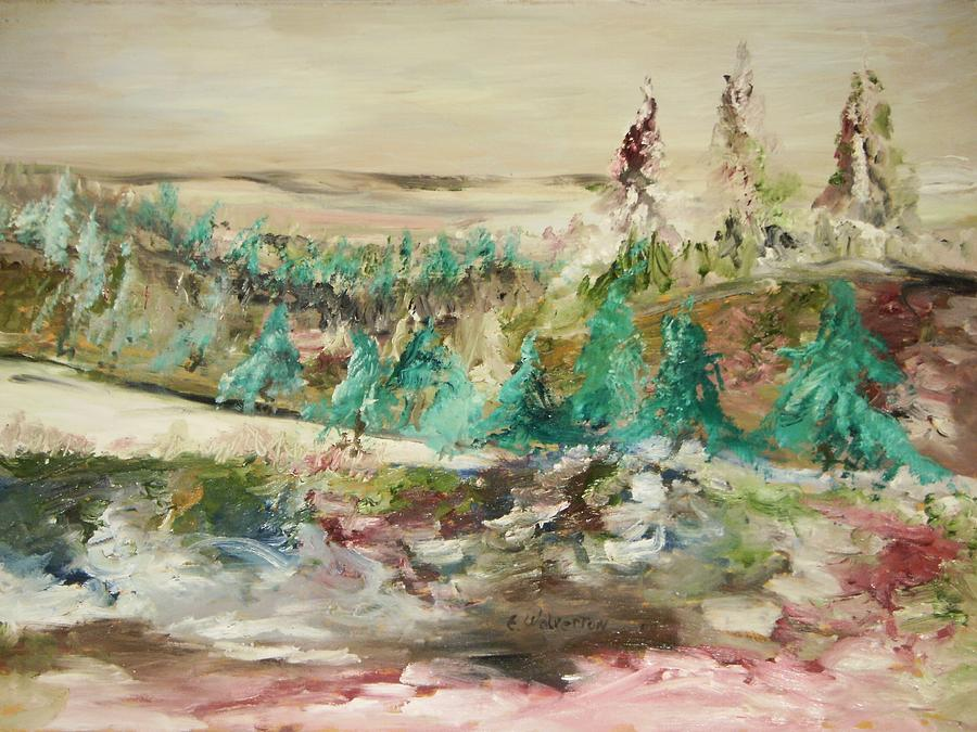 Landscape Painting - San Andreas Fault Line by Edward Wolverton