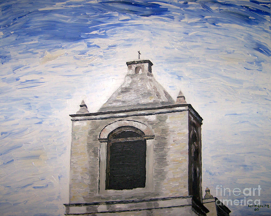 San Antonio Painting - San Antonio Belltower by Kevin Croitz