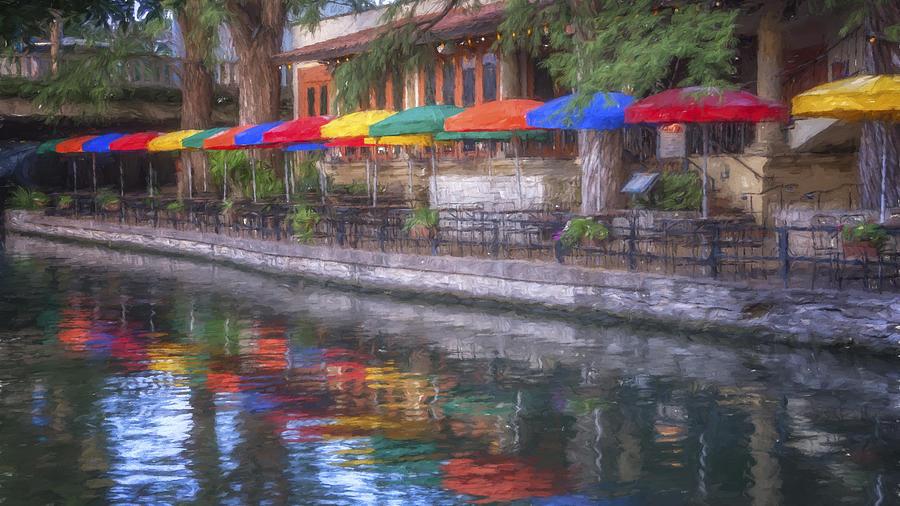 San Antonio Riverwalk Colors Photograph