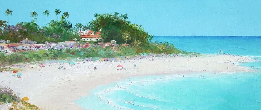San Clemente Beach Painting - San Clemente Beach Panorama by Jan Matson