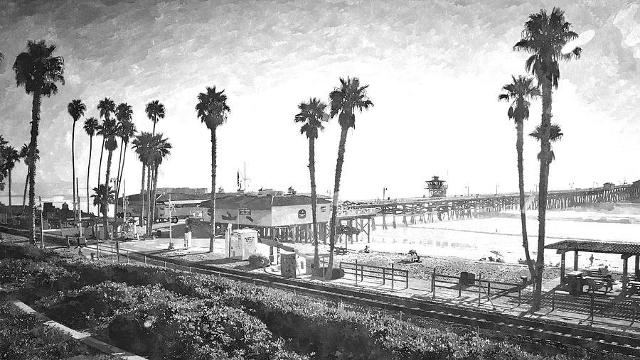 San Clemente California Digital Art - San Clemente Pier California by Roger Merrill