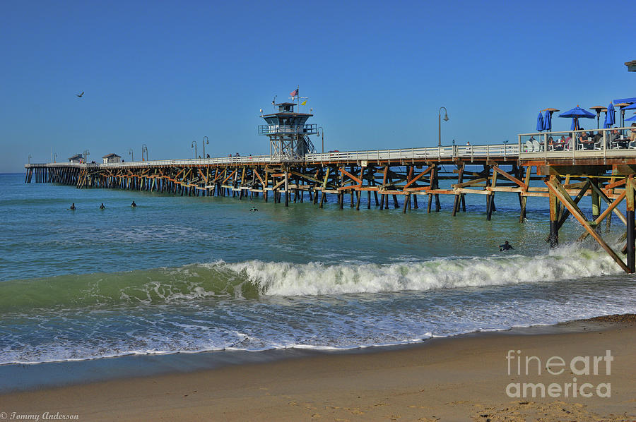 Warf Photograph - San Clemente Pier by Tommy Anderson
