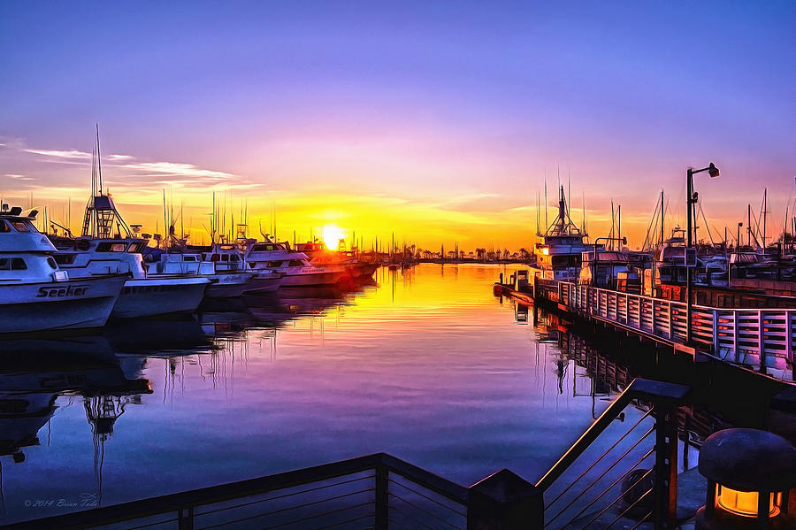 San Diego Harbor Sunrise by Brian Tada