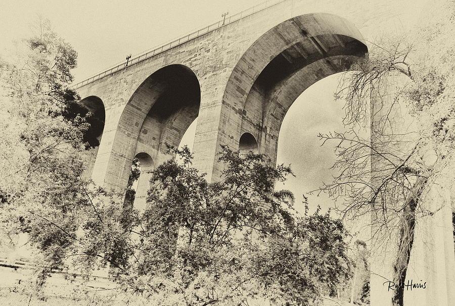 Cabrillo Bridge Photograph - San Diego Historical Cabrillo Bridge by Russ Harris