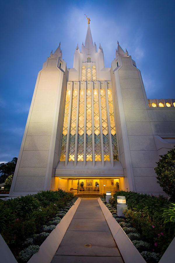 San Diego Lds Temple 8 Photograph By Alan Nix