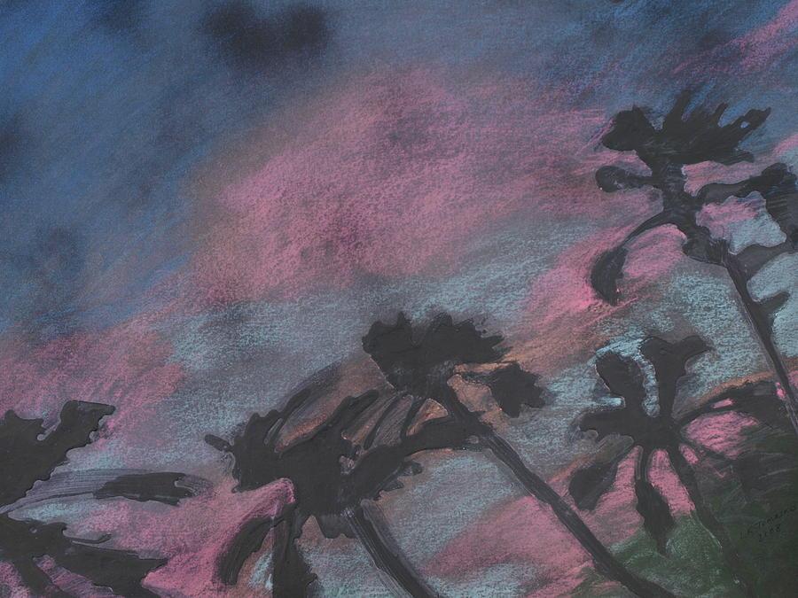 San Diego Drawing - San Diego palms by Leah  Tomaino