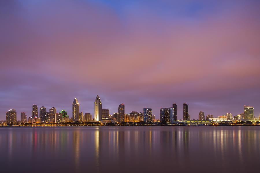 3scape Photos Photograph - San Diego Skyline by Adam Romanowicz