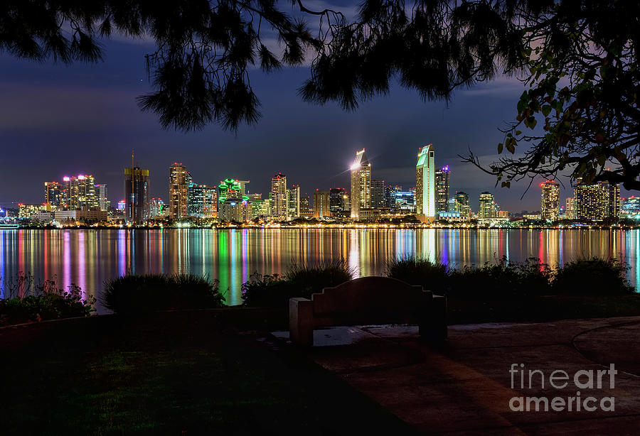 San Diego Photograph - San Diego Skyline by Eddie Yerkish