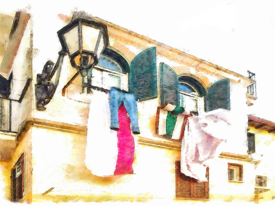 Italy Digital Art - San Felice Circeo Put Clothes by Giuseppe Cocco