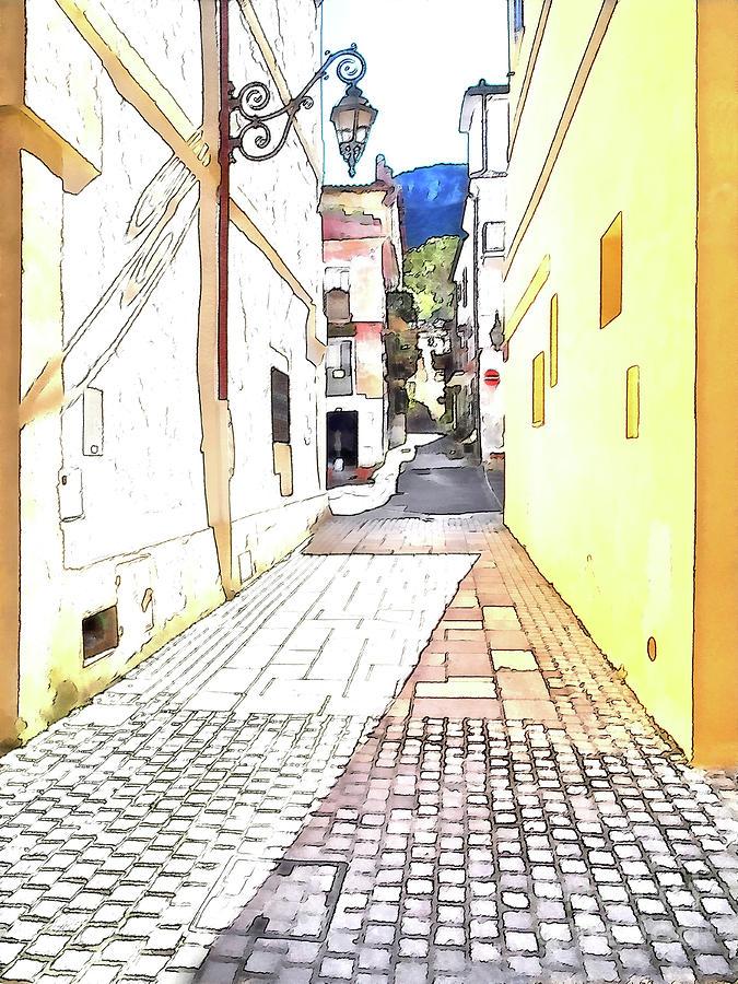 Italy Digital Art - San Felice Circeo Street by Giuseppe Cocco