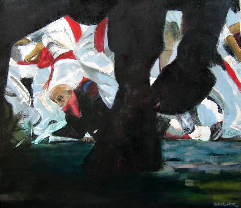 Bull Painting - San Fermin2 by Karla Cecilia Rodriguez