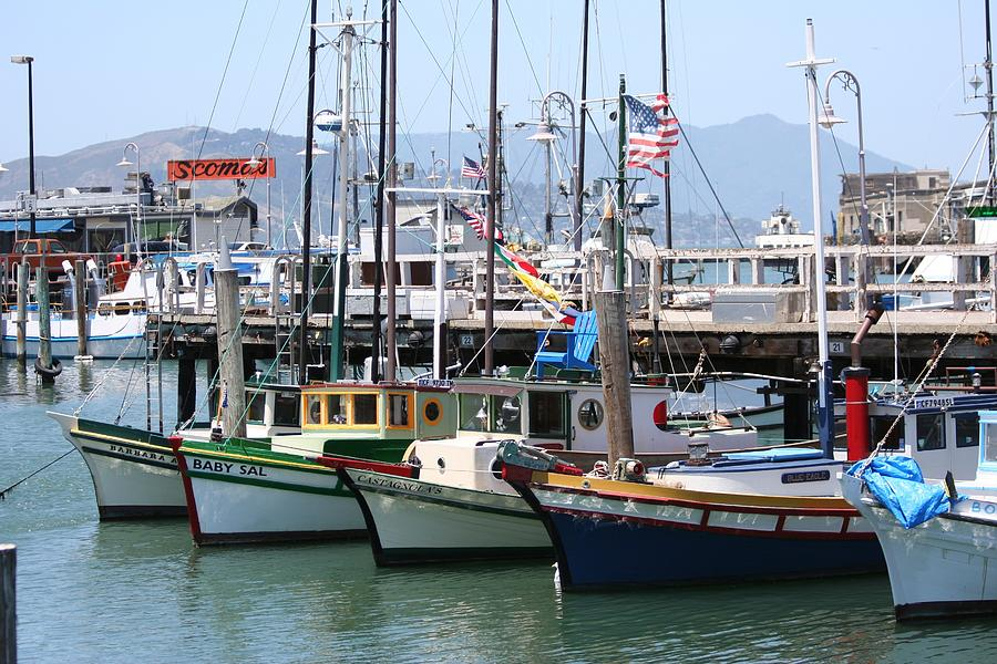 Boats Photograph - San Fran Boats by Melanie Beasley