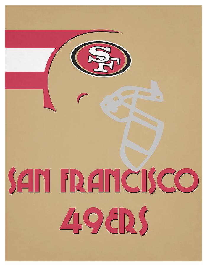49ers Mixed Media - San Francisco 49ers Team Vintage Art by Joe Hamilton