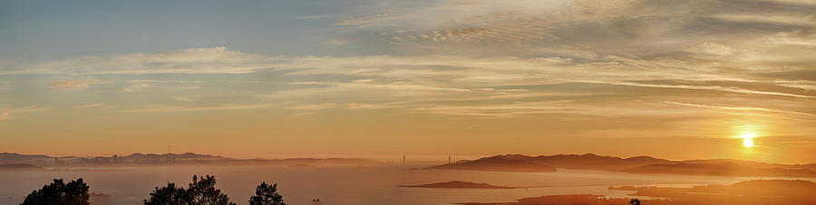 City Photograph - San Francisco Bay Area Panorama by Digiblocks Photography