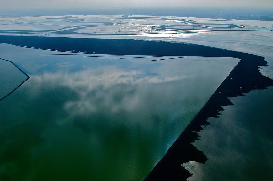 Aerial Photography Photograph - San Francisco Bay Salt Flats 3 by Sylvan Adams