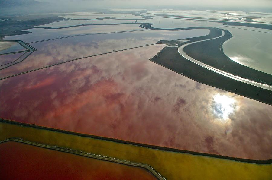 Aerial Photography Photograph - San Francisco Bay Salt Flats 5 by Sylvan Adams