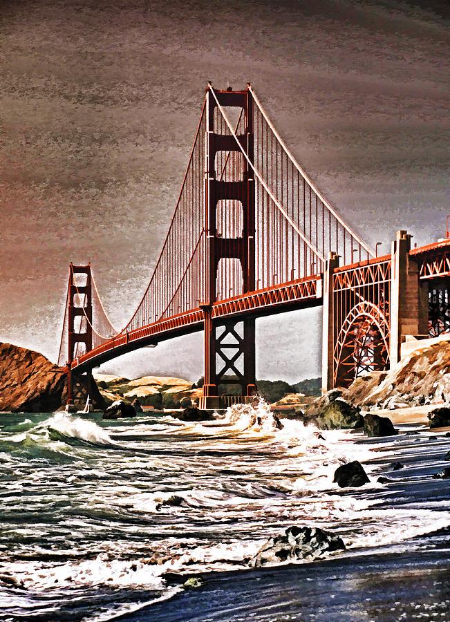 Usa Photograph - San Francisco Bridge View by Dennis Cox WorldViews
