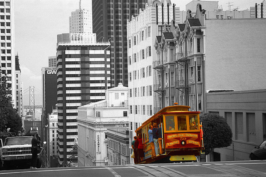San Francisco Photograph - San Francisco Cable Car - Highlight Photo by Peter Potter