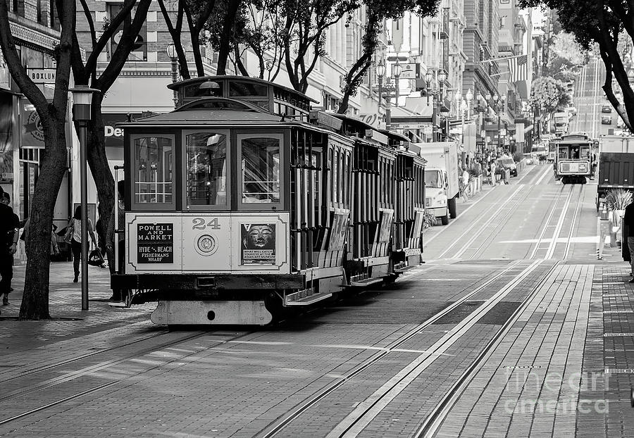 San Francisco Photograph - San Francisco Cable Cars by Eddie Yerkish
