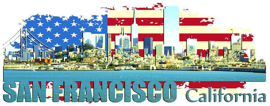 Golden Gate Bridge Digital Art - San Francisco California by Don Kuing