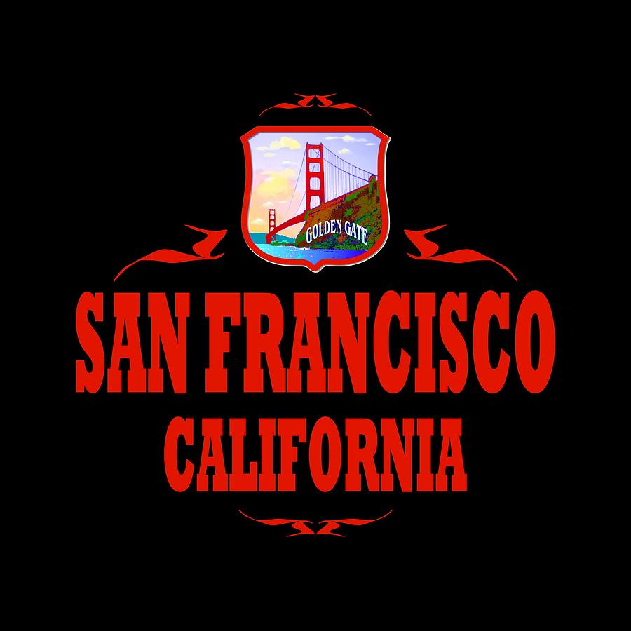 Sanfrancisco Mixed Media - San Francisco California Golden Gate Design by Peter Potter