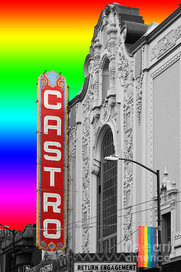 Wingsdomain Photograph - San Francisco Castro Theater . 7d7579 by Wingsdomain Art and Photography