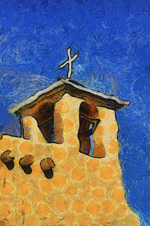 Taos Digital Art - San Francisco De Asis Church In Ranchos De Taos by Mitch Tillison