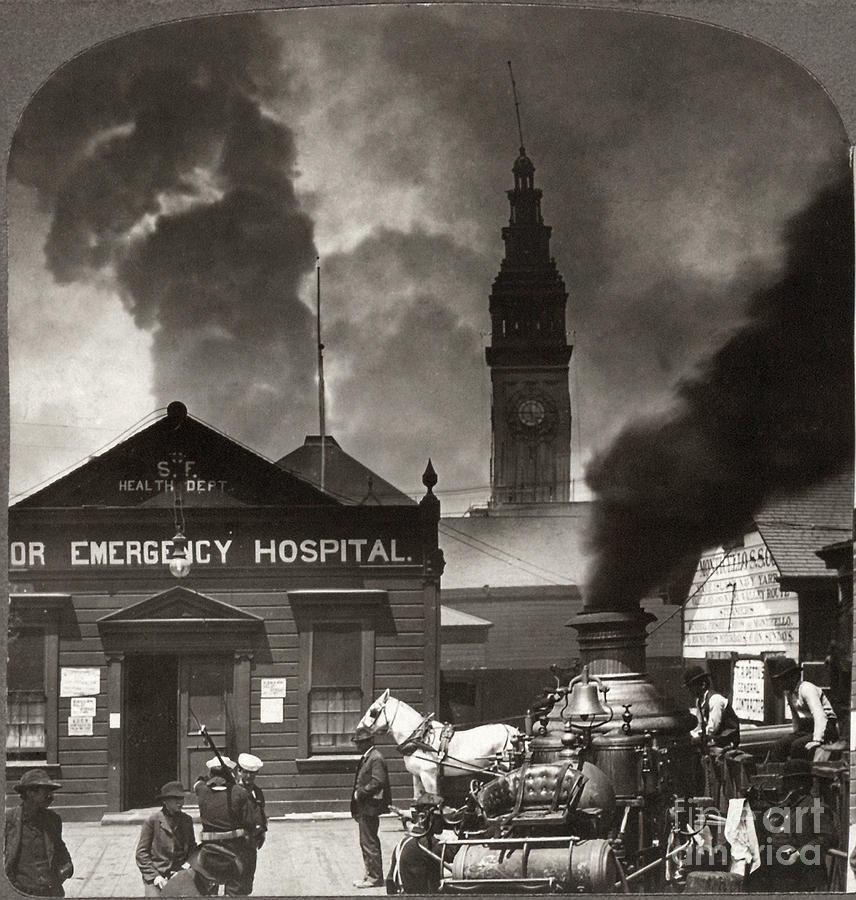 1906 Photograph - San Francisco Earthquake by Granger
