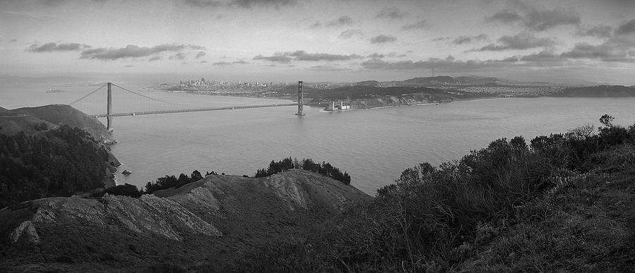 Travel Photograph - San Francisco from Marin Headlands by Nathan Spotts