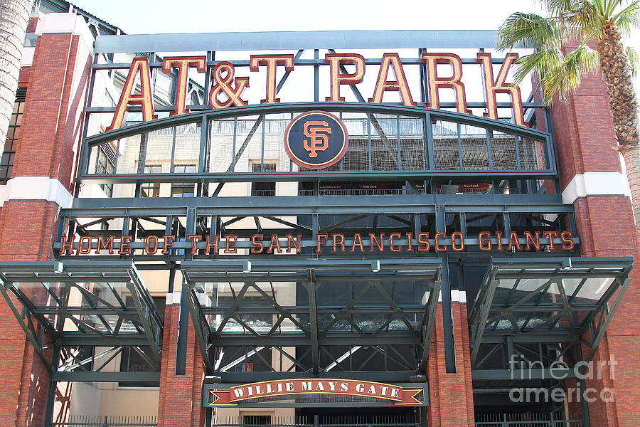 Sport Photograph - San Francisco Giants Att Park Willie Mays Entrance . 7d7635 by Wingsdomain Art and Photography