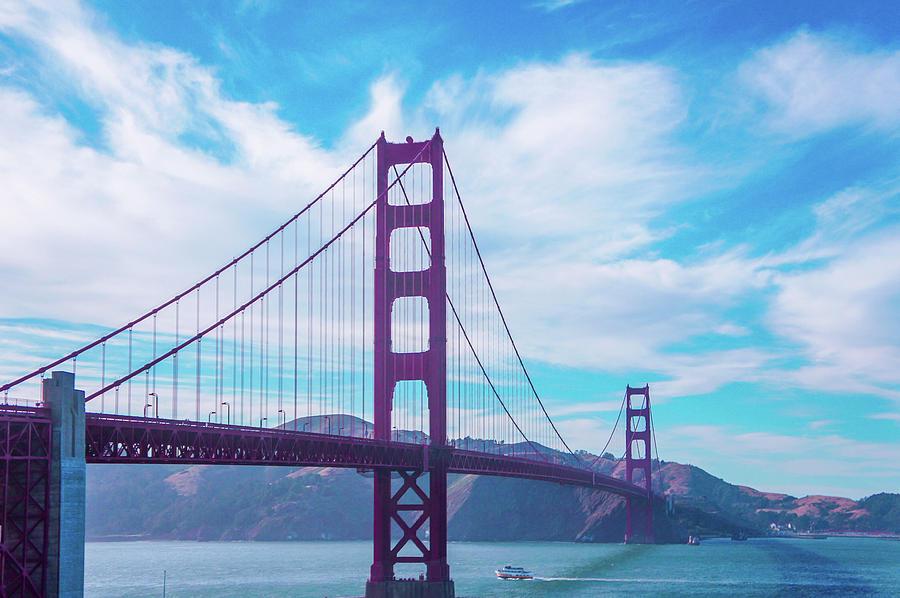 Golden Gate Bridge Photograph -  San Francisco Golden Gate Bridge by Art Spectrum