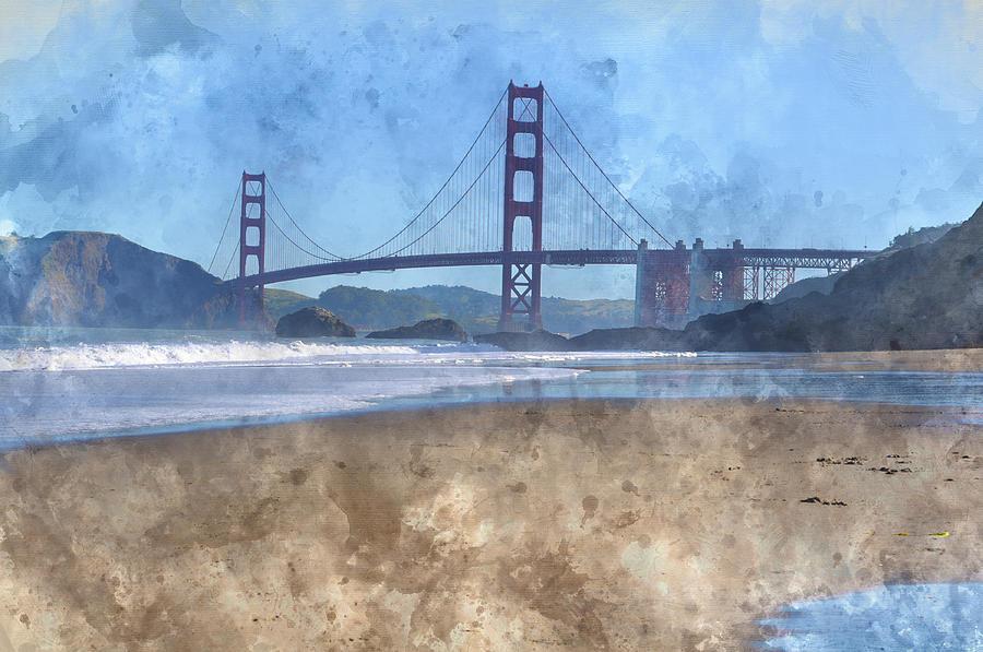 San Francisco Golden Gate Bridge In California Photograph