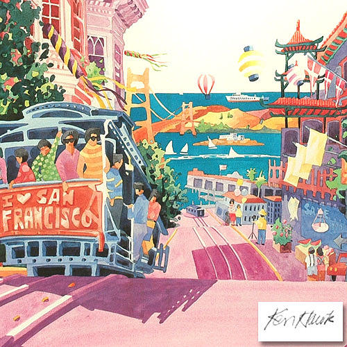 Holiday Painting - San Francisco by Ken Hawk