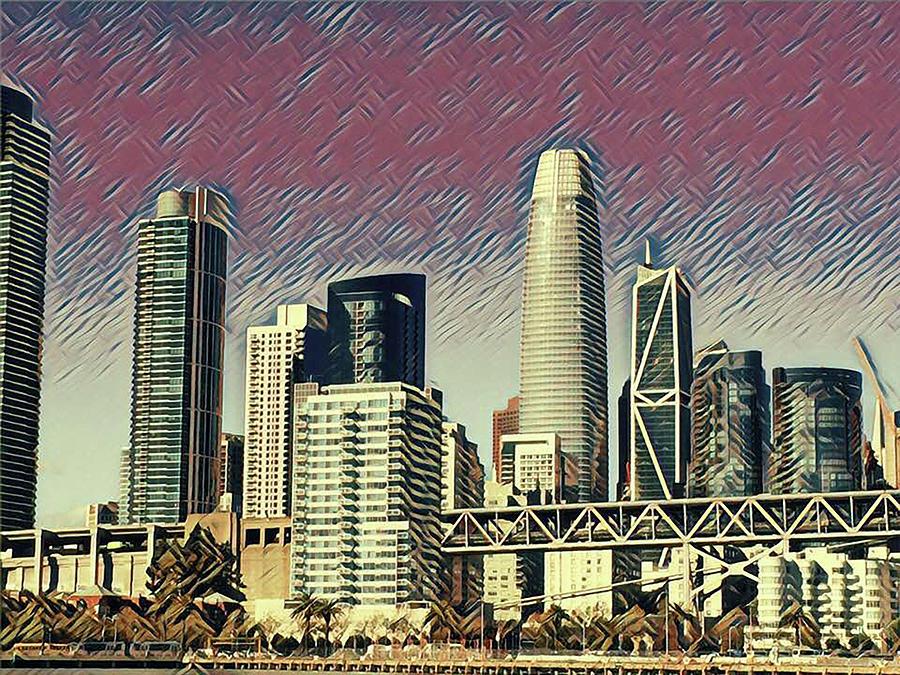 San Francisco Nights Mixed Media