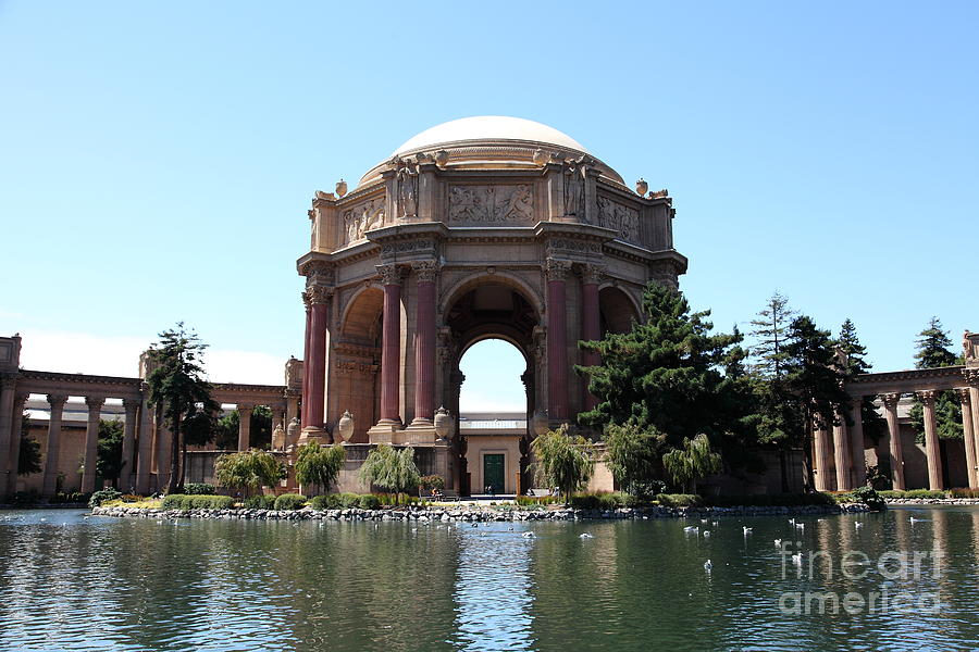 San Francisco Photograph - San Francisco Palace Of Fine Arts - 5d18107 by Wingsdomain Art and Photography