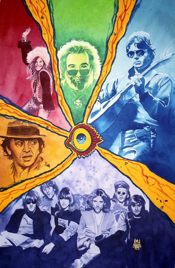 Janis Joplin Painting - San Francisco Rock by Ken Meyer jr