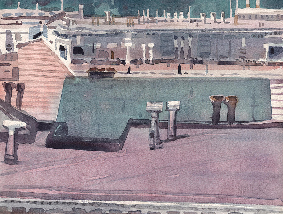 Plein Air Painting - San Francisco Rooftops by Donald Maier