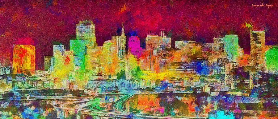 San Francisco Skyline 139 - Pa Painting