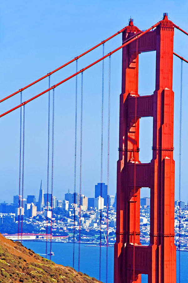American West Photograph - San Francisco Skyline by Dennis Cox