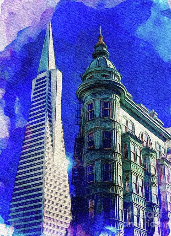 San Francisco Skyline Painting