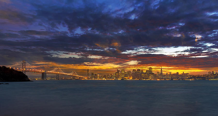 San Francisco Photograph - San Francisco Sunset by David Gn