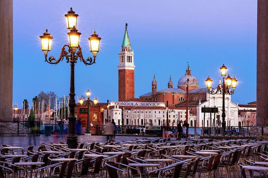 Venice Photograph - San Giorgio Maggiore From Piazza San Marco - Venice by Barry O Carroll