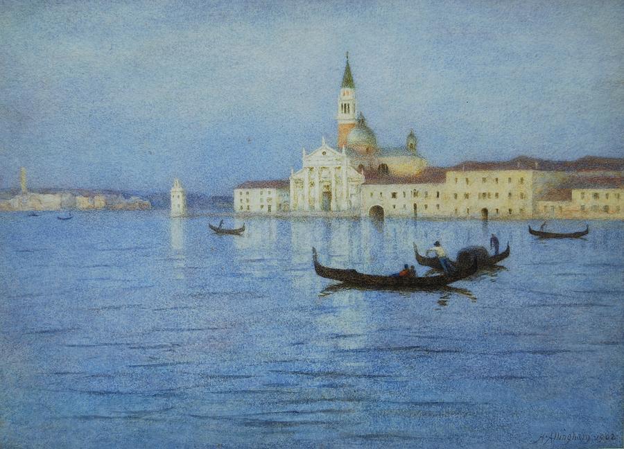 San Painting - San Giorgio Maggiore by Helen Allingham