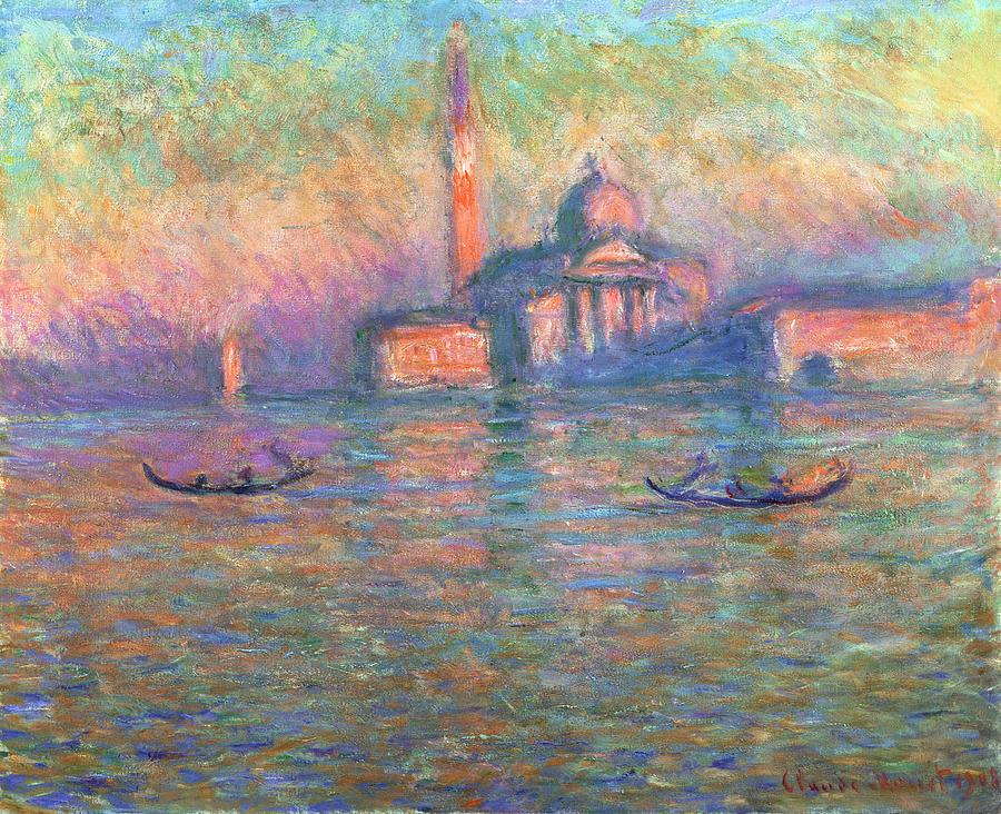 San Giorgio Maggiore Venice Painting by Claude Monet