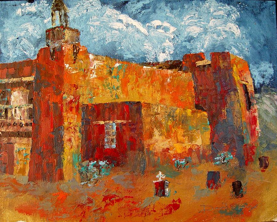 New Mexico Painting - San Jose De Gracias by David Knox
