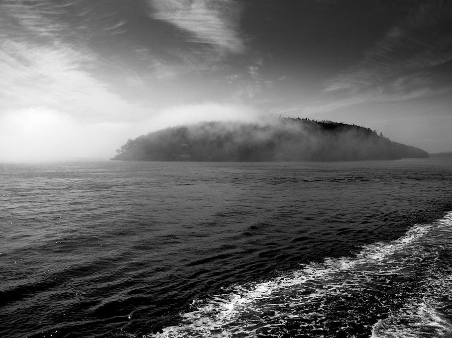 Black And White Photograph - San Juan Islands by Karla DeCamp