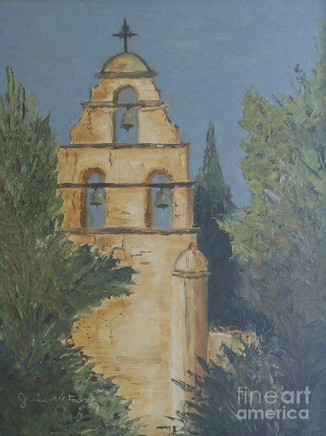 Mission Painting - San Juan Mission by Jeanie Watson