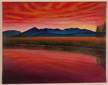 San Juan Mountains Colorado Painting by Joseph Greenawalt