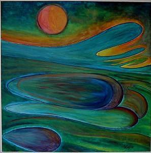 Abstract Painting - San Juan Nights by Charles De SanJuan