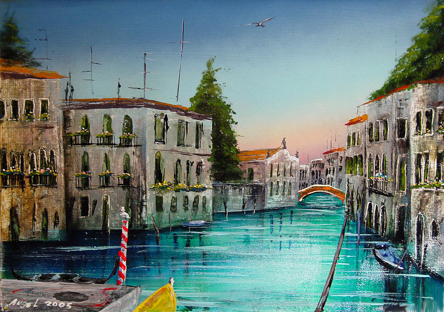 San Marcos Painting - San Marcos Venice by Angel Ortiz